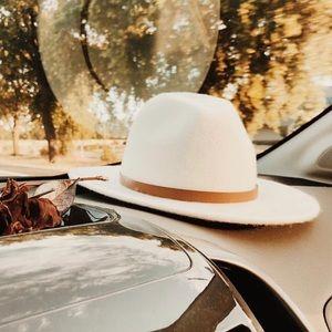 Free People Leather Band Felt Hat